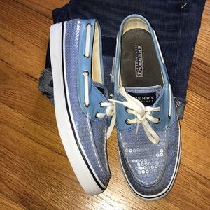 Sperry Topsider Pearlescent Sequin Boat Shoes